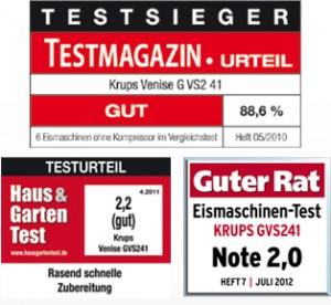 Krups G VS2 41 Testauszeichnungen